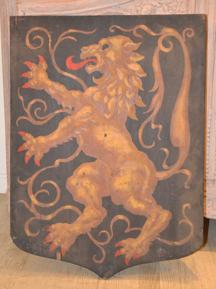 French Shield of a Lion