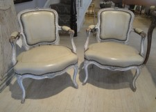 Pr of 18th c chairs