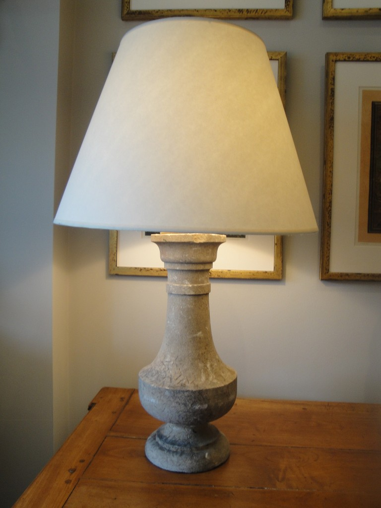 Stone Baluster Lamp
