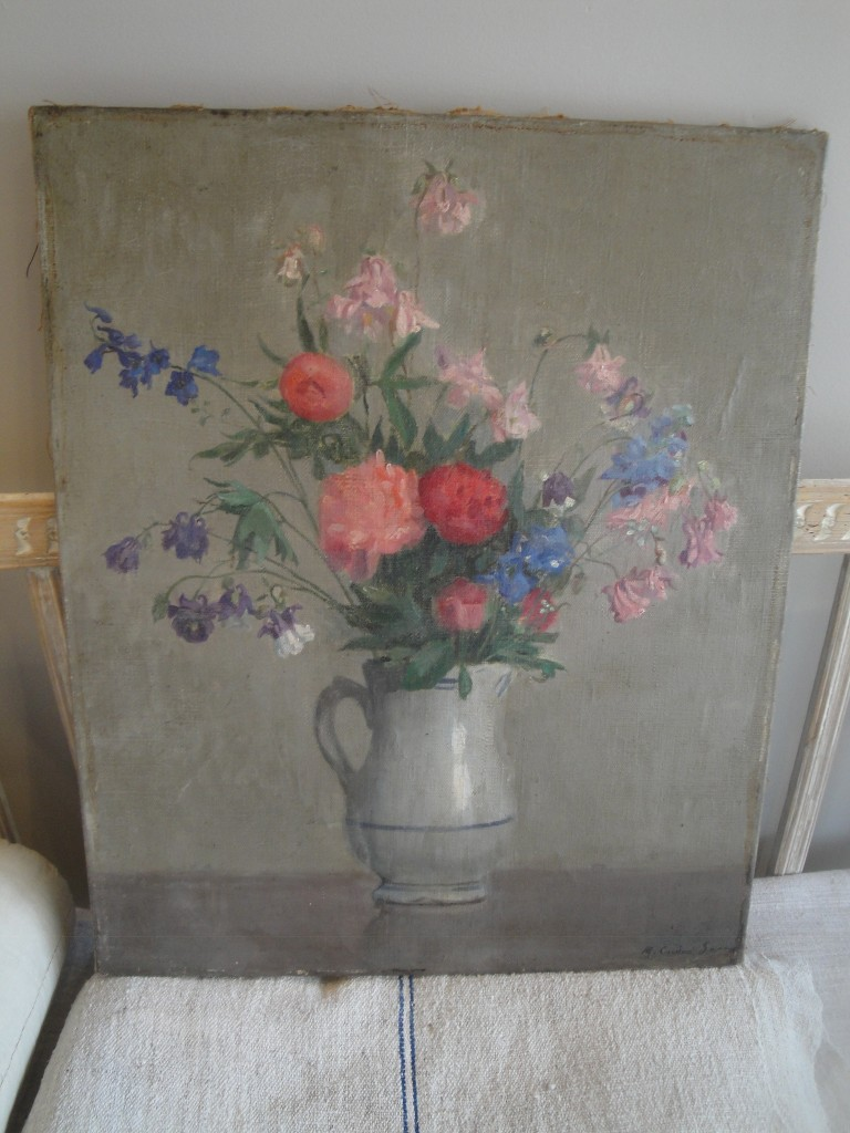 Oil painting of flowers